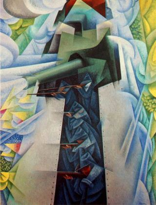 Gino Severini - The Armored Train