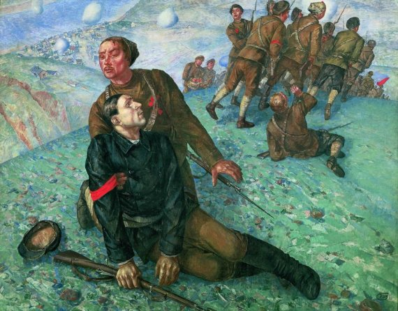 Death_of_a_Comissary_(Petrov-Vodkin)